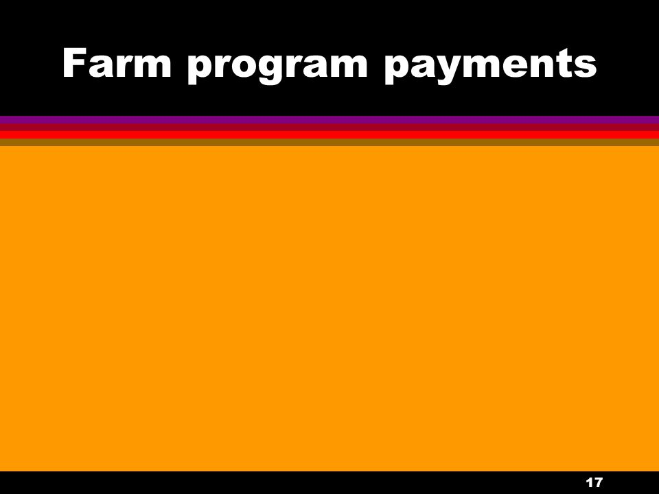 17 Farm program payments