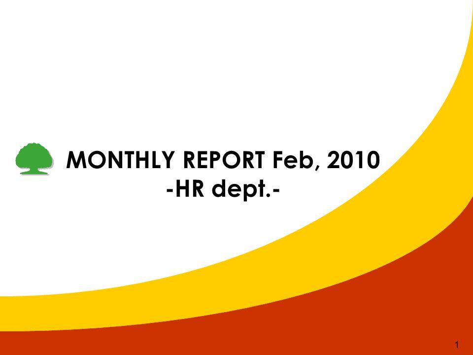 1 MONTHLY REPORT Feb, 2010 -HR dept.-