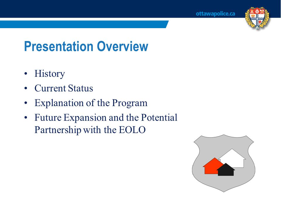 Presentation Overview History Current Status Explanation of the Program Future Expansion and the Potential Partnership with the EOLO