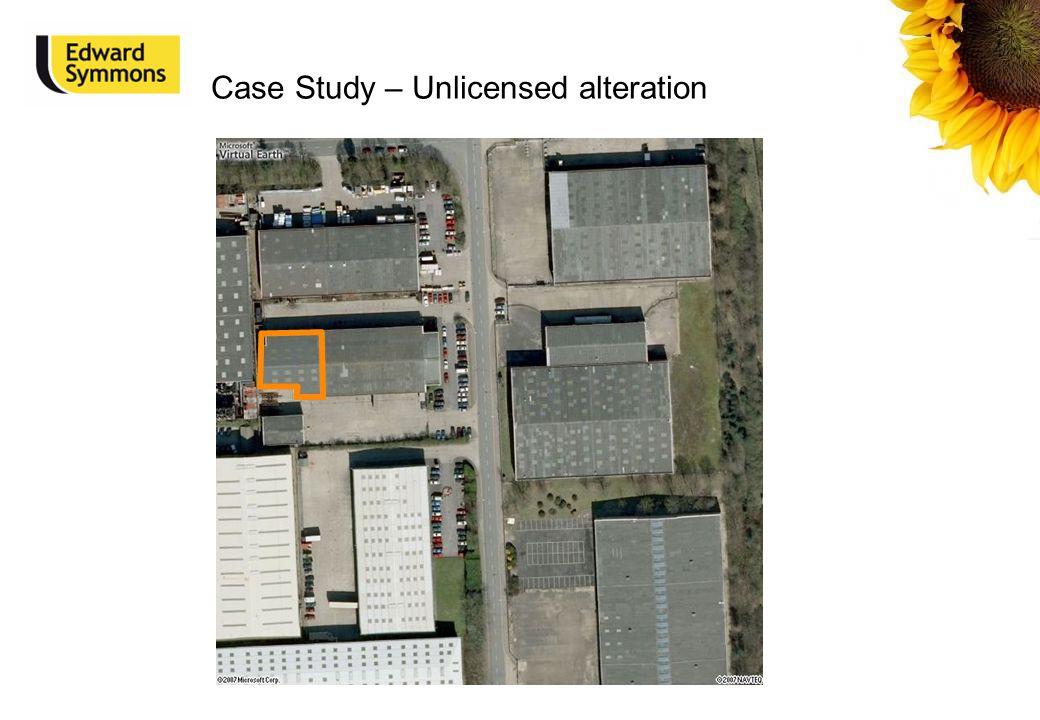 Case Study – Unlicensed alteration