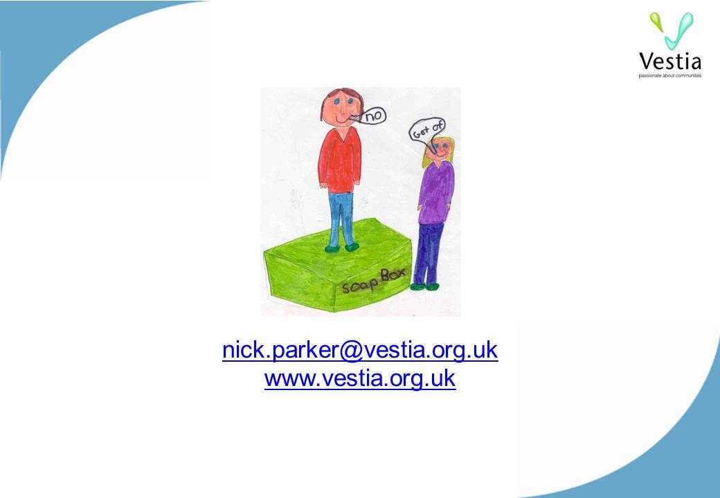 nick.parker@vestia.org.uk www.vestia.org.uk nick.parker@vestia.org.uk www.vestia.org.uk