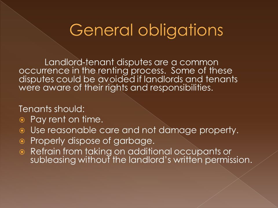 Landlord-tenant disputes are a common occurrence in the renting process.