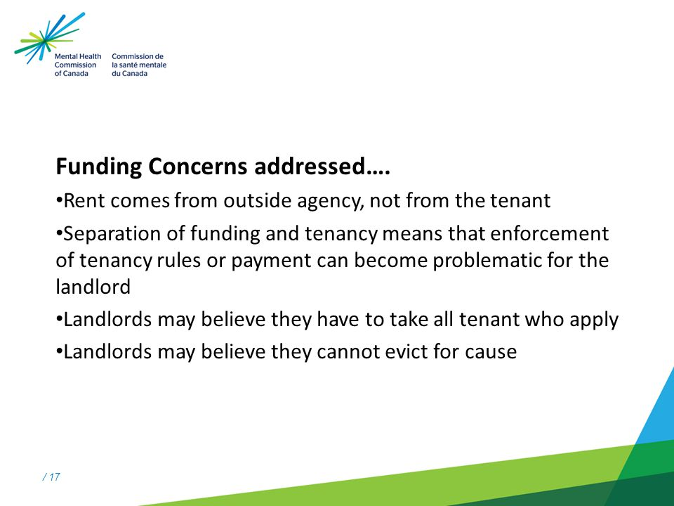 / 17 Funding Concerns addressed….