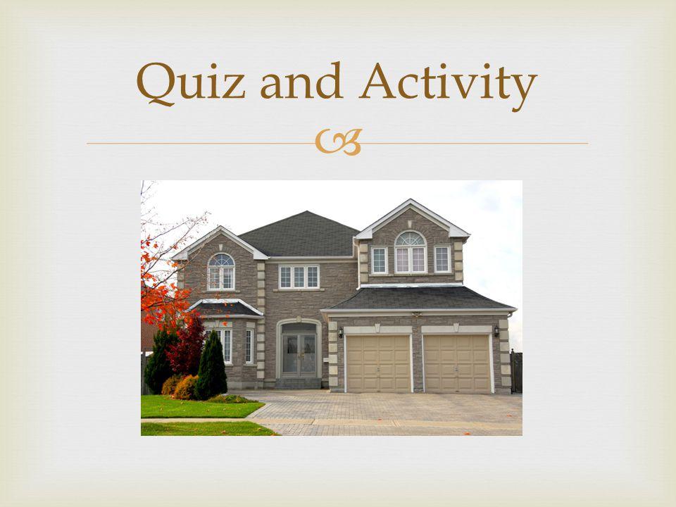  Quiz and Activity