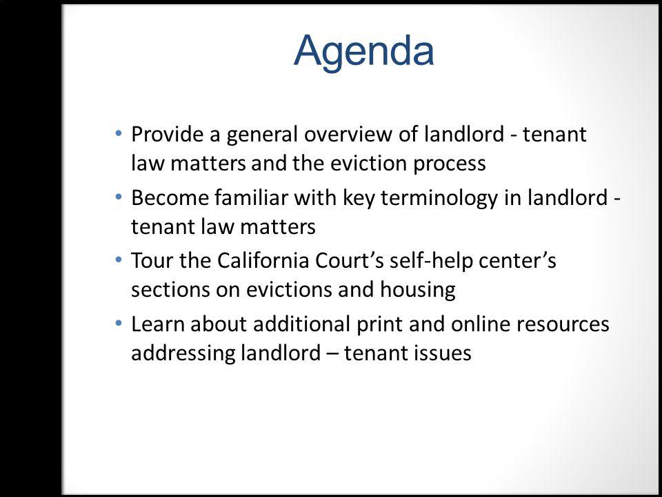 Landlord-Tenant Legal Guides Dept.