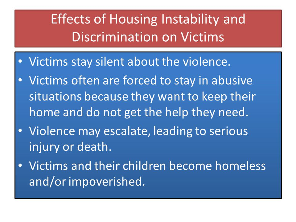 Cases of Discrimination against Domestic Violence Survivors (pre-VAWA) Tiffani Alvera v.