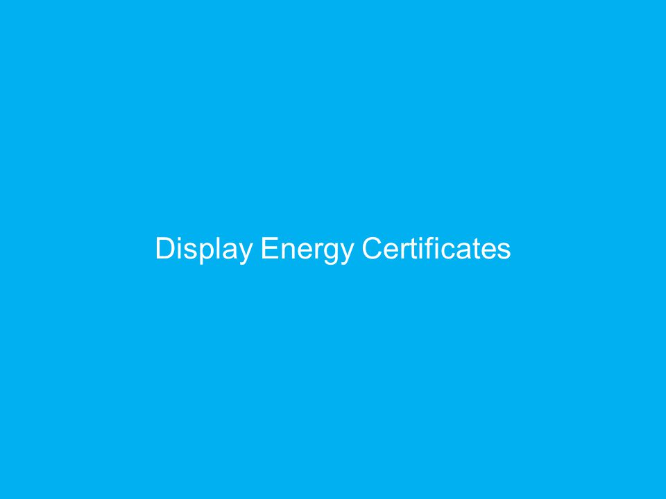 Display Energy Certificates