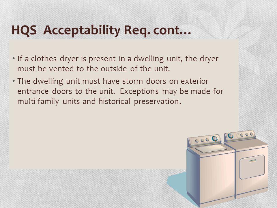 HQS Acceptability Req.