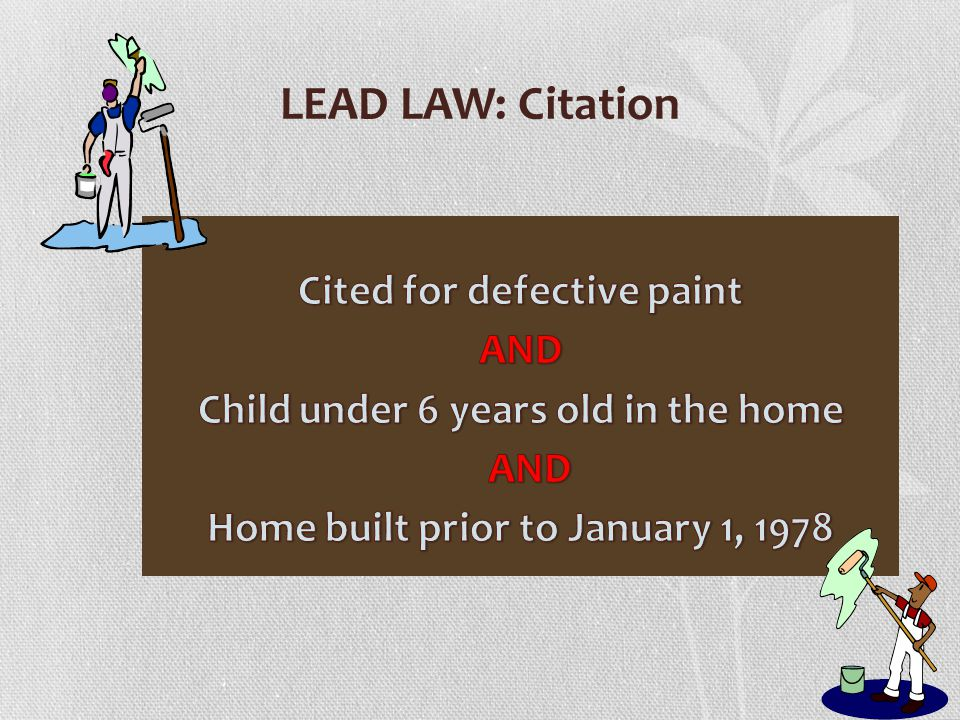 LEAD LAW: Citation