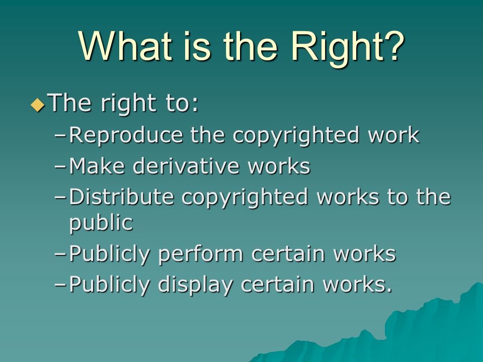 What is the Right.