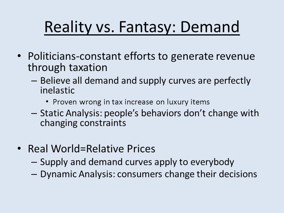 Reality vs.