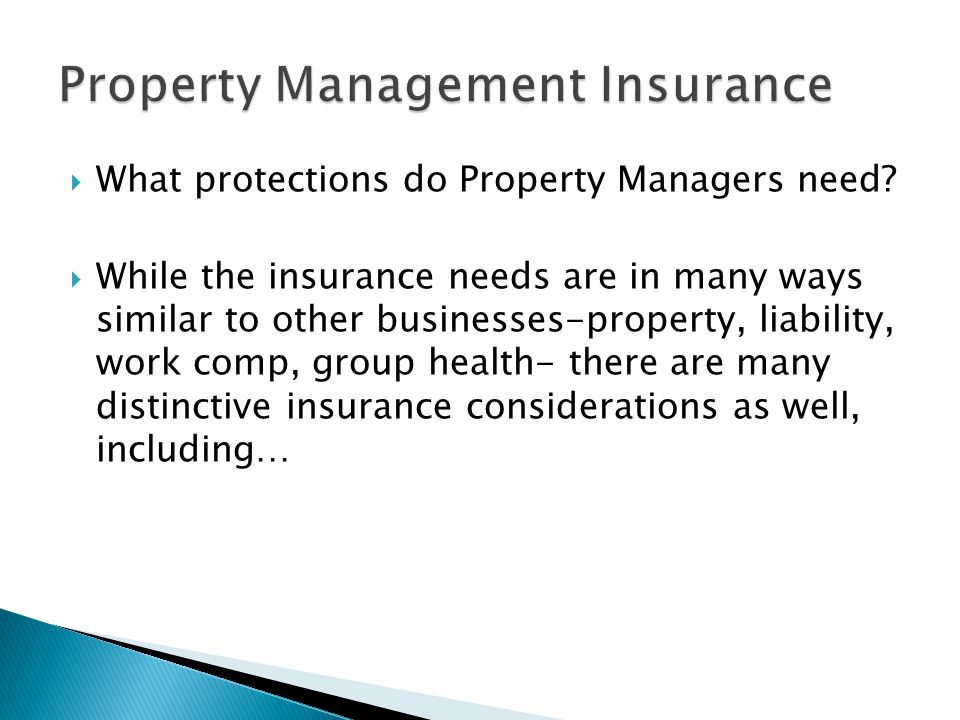  What protections do Property Managers need.