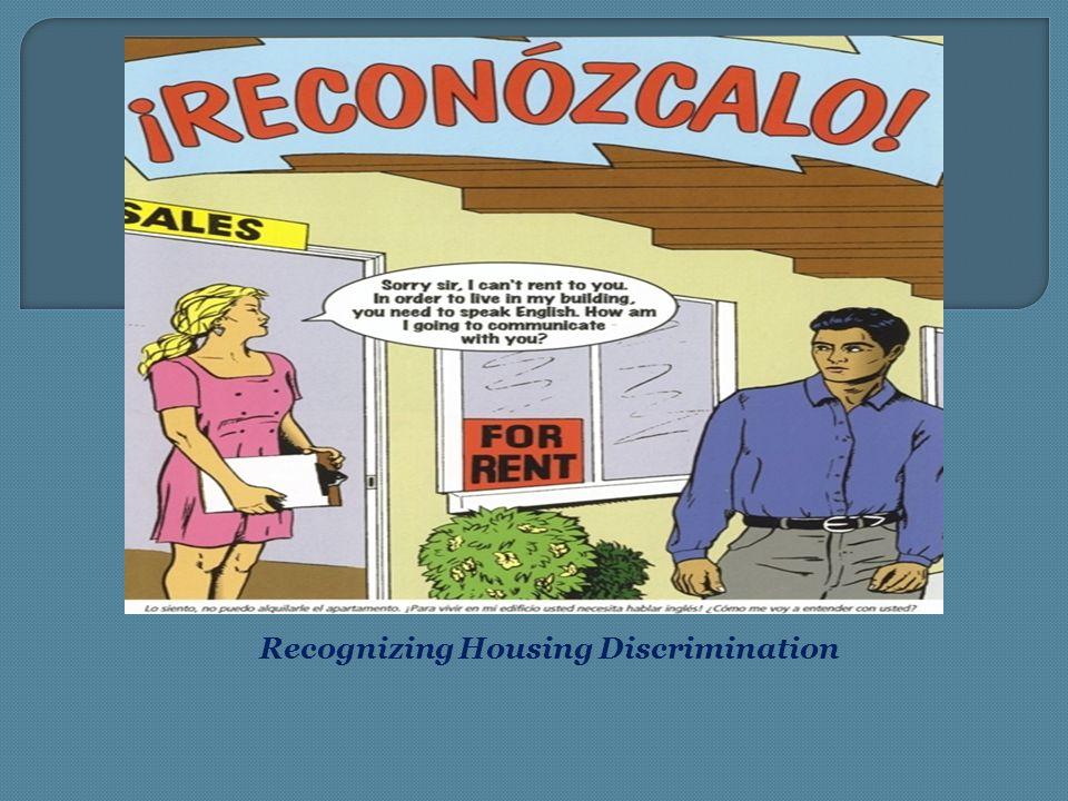 Recognizing Housing Discrimination