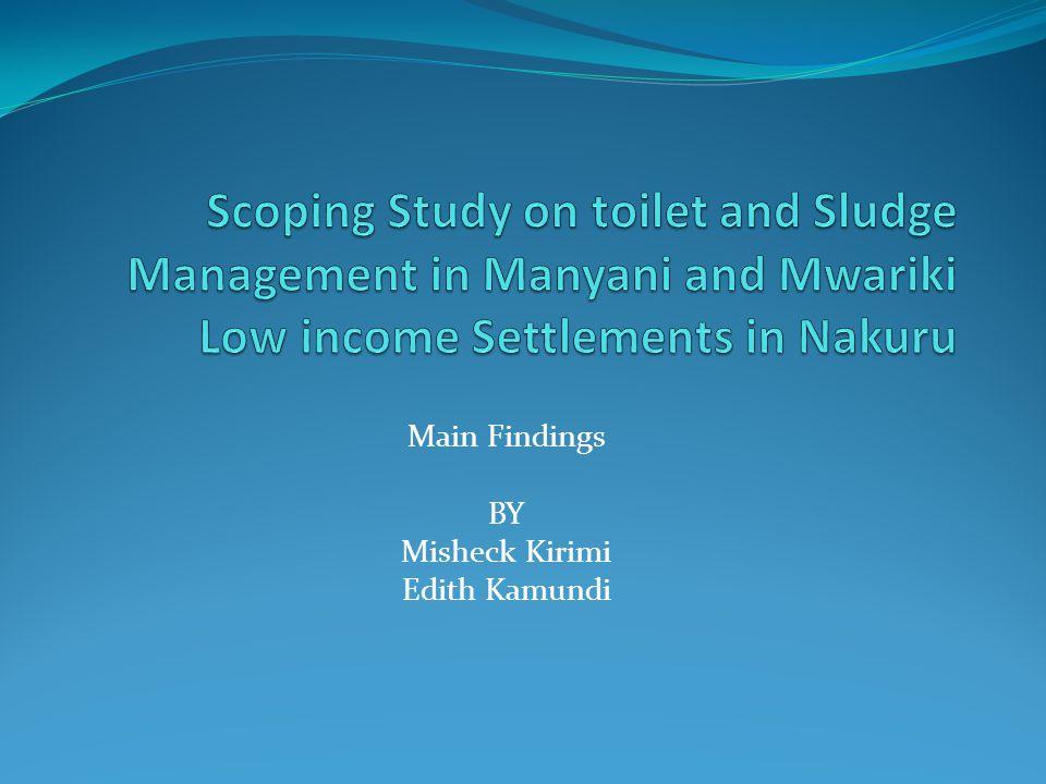 Main Findings BY Misheck Kirimi Edith Kamundi