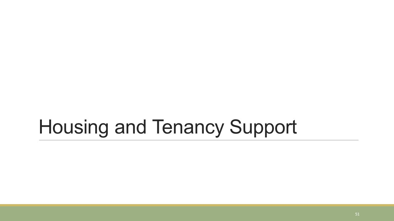 Housing and Tenancy Support 51