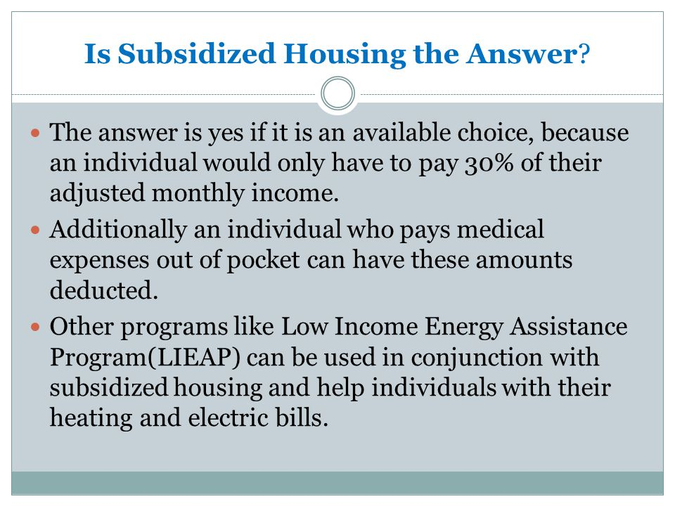 Why is Housing a barrier. Affordable and Accessible Housing is hard to obtain.