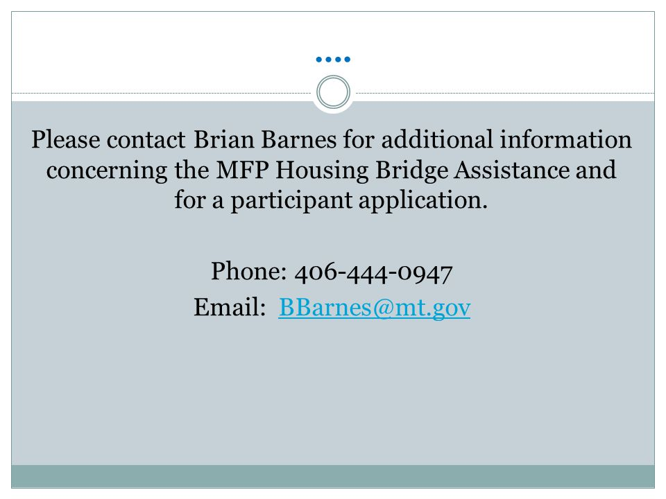 Prescreen MFP Referrals Application Process Section 8 Housing Choice Voucher (HCV) and/or other subsidized Housing.