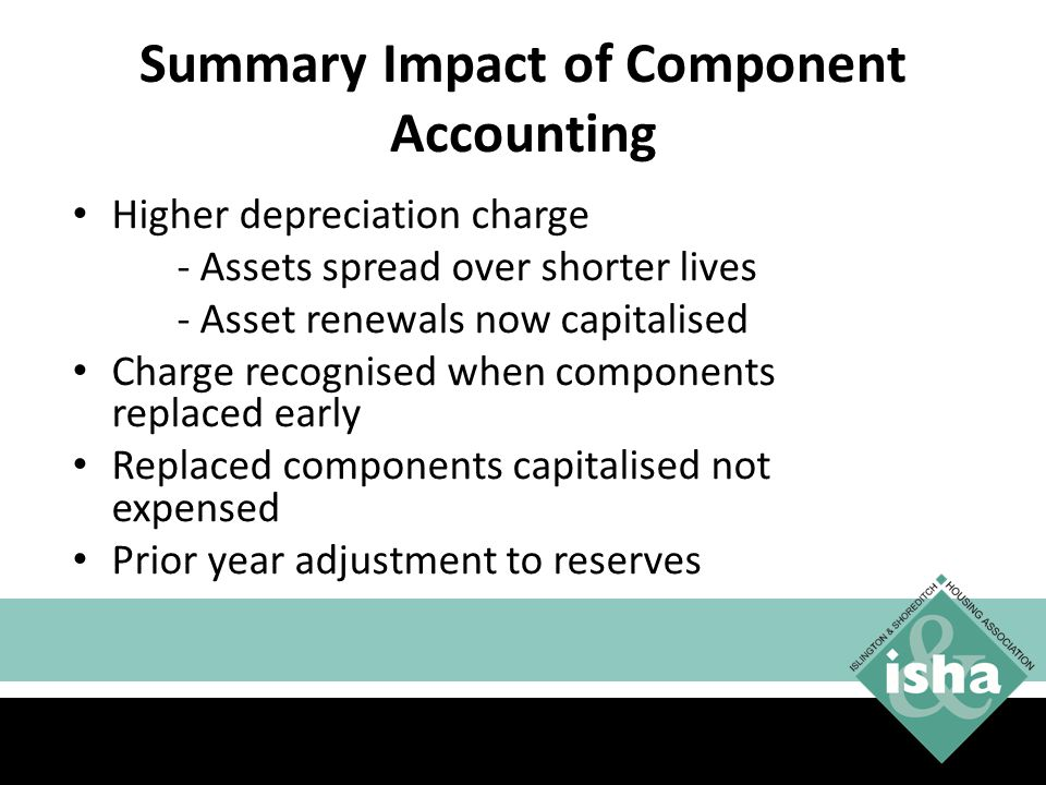 Summary Impact of Component Accounting Higher depreciation charge - Assets spread over shorter lives - Asset renewals now capitalised Charge recognised when components replaced early Replaced components capitalised not expensed Prior year adjustment to reserves 44