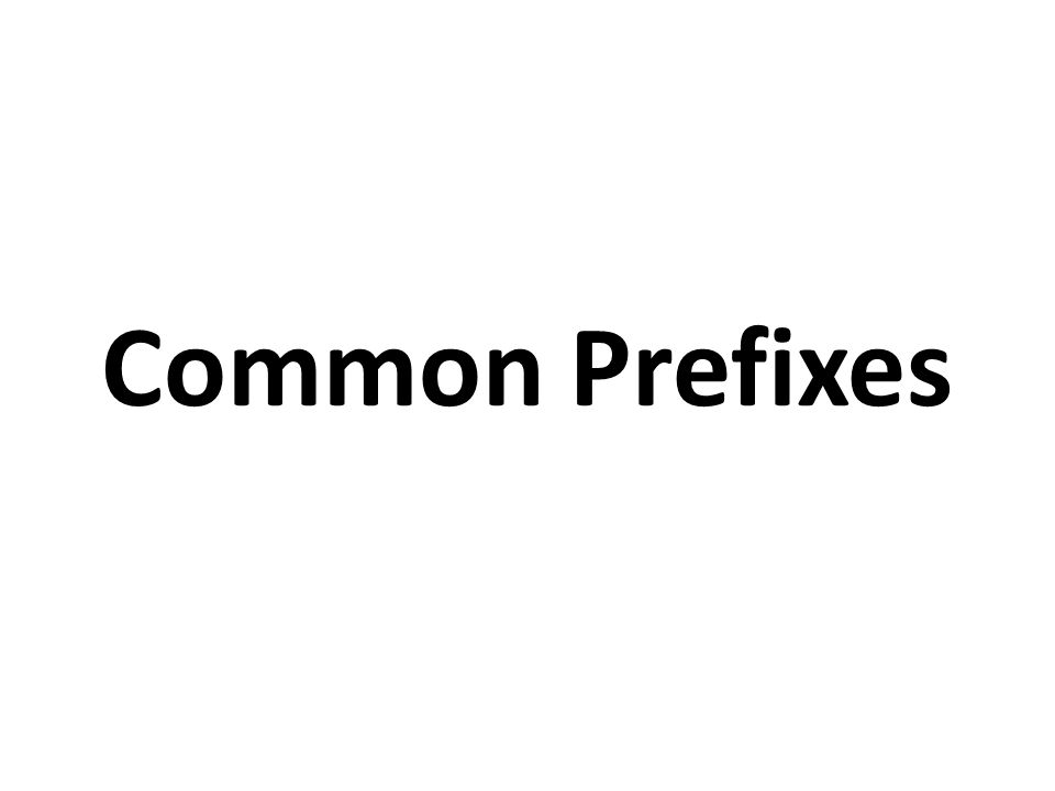 Common Prefixes