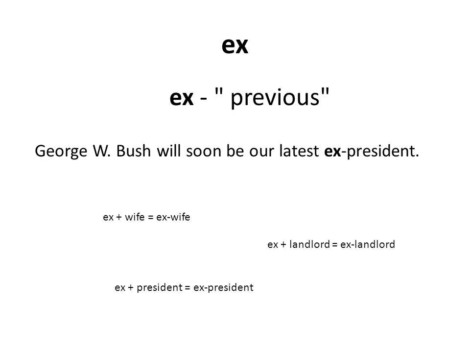 ex ex -