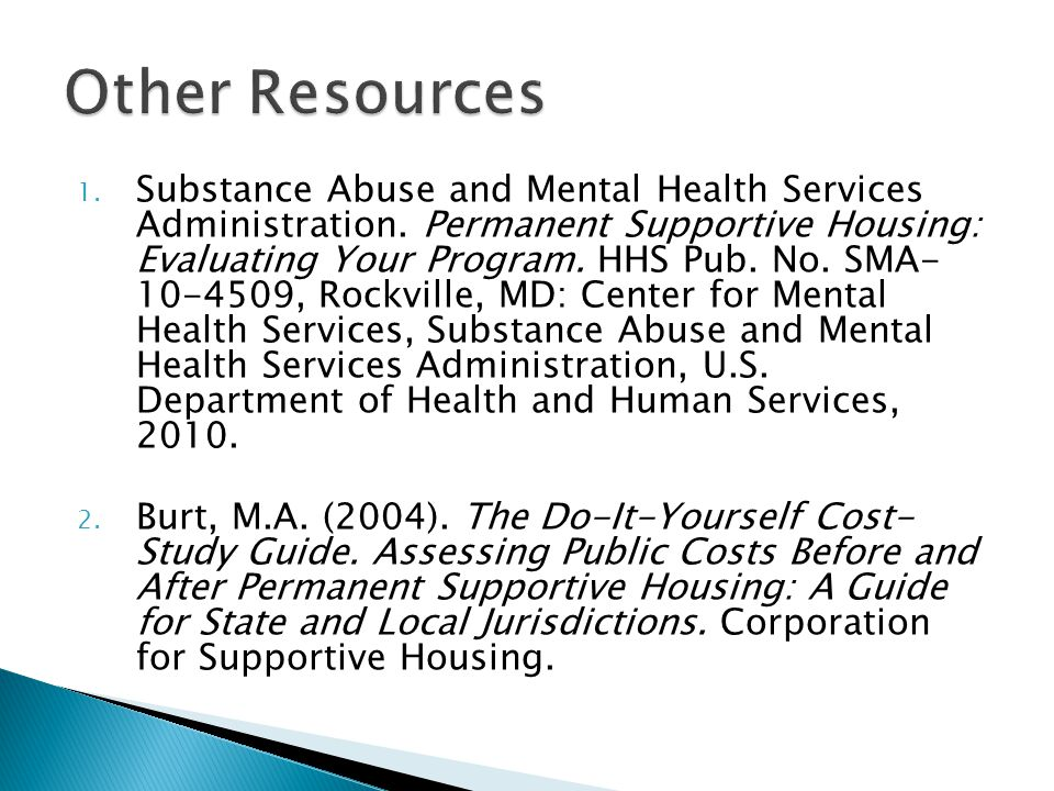 1. Substance Abuse and Mental Health Services Administration.