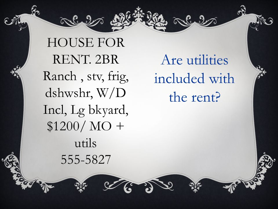 HOUSE FOR RENT.