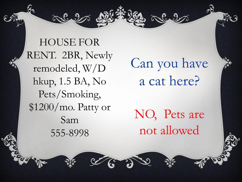 HOUSE FOR RENT. 2BR Ranch, stv, frig, dshwshr, W/D Incl, Lg bkyard, $1200/ MO + utils 555-5827