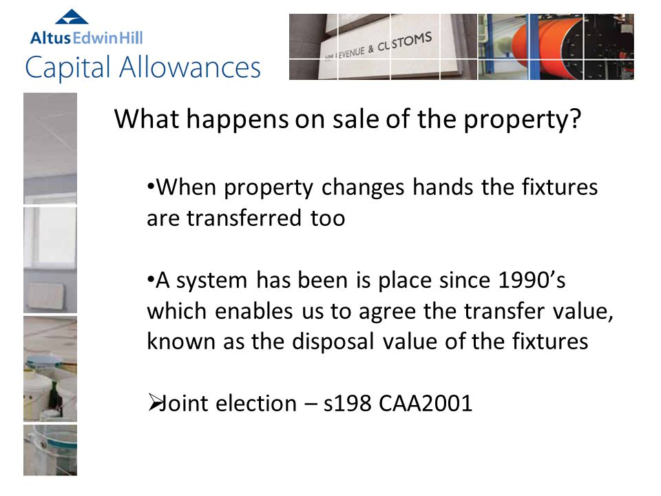 What happens on sale of the property.