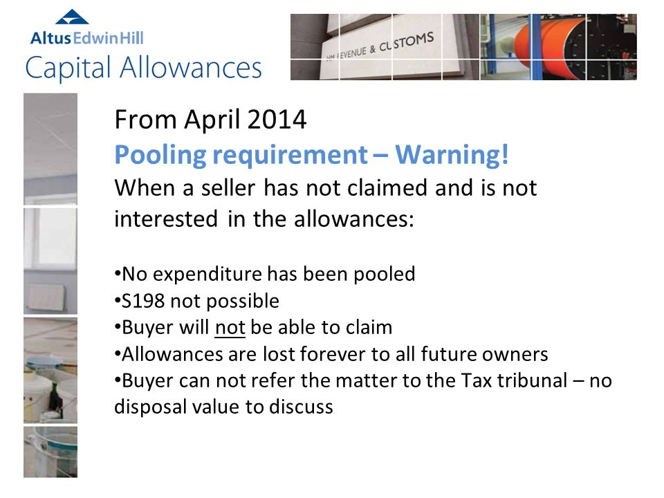 From April 2014 Pooling requirement – Warning.