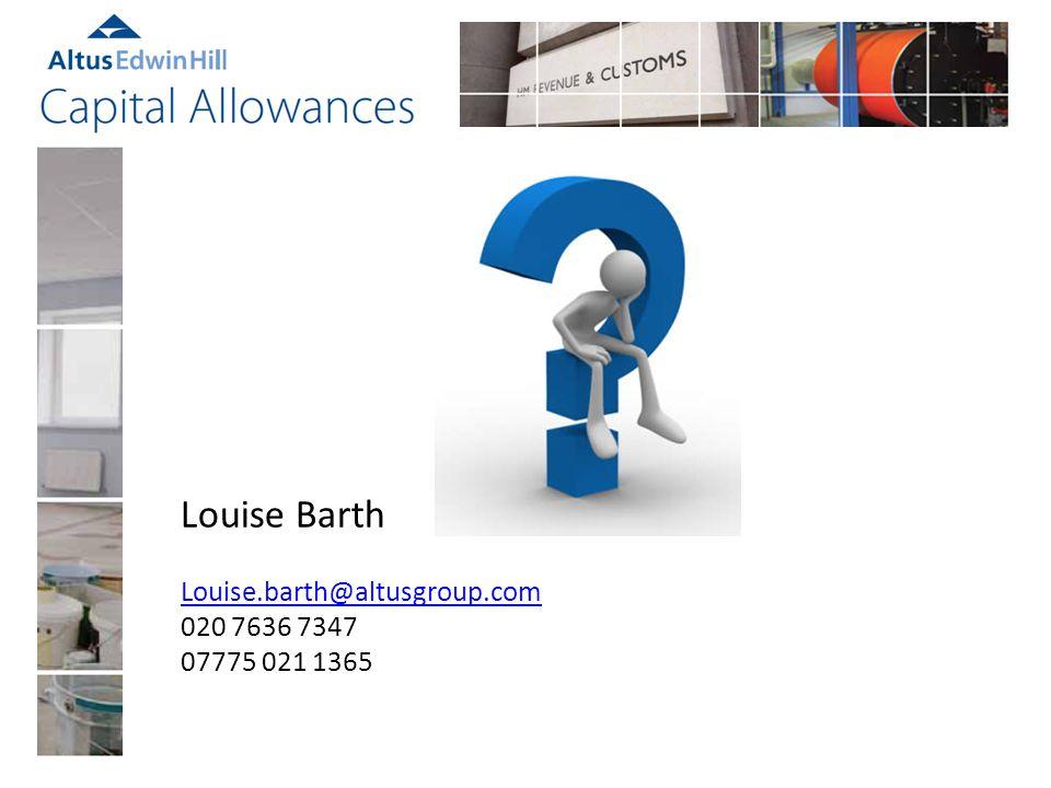Louise Barth Louise.barth@altusgroup.com 020 7636 7347 07775 021 1365
