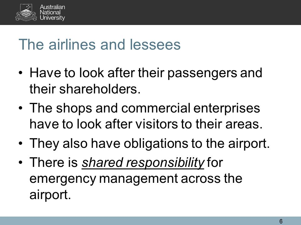 The airlines and lessees Have to look after their passengers and their shareholders.