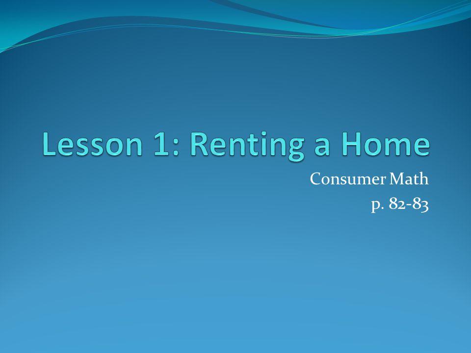 Consumer Math p. 82-83