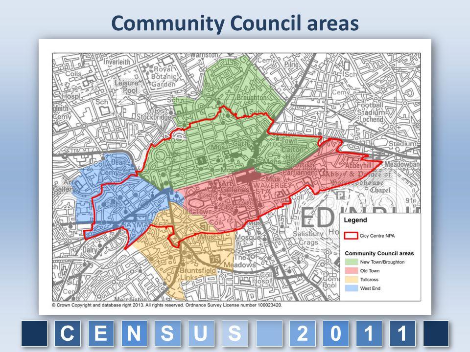Community Council areas C C E E N N S S U U 1 1 1 1 0 0 2 2 S S