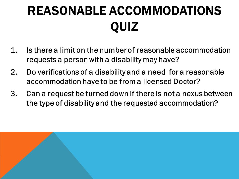 The ADA has different requirements than the Fair Housing Act.