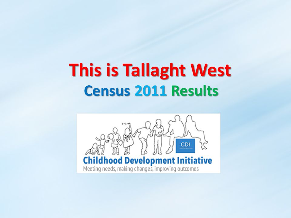 This is Tallaght West Census 2011 Results