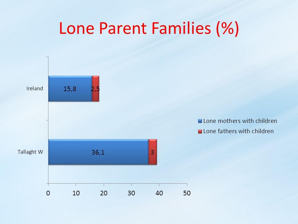 Lone Parent Families (%)