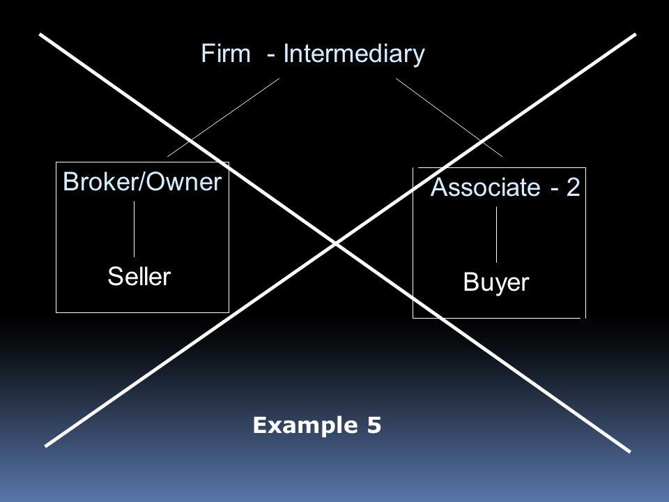 Firm - Intermediary Broker/Owner Associate - 2 Seller Buyer Example 5