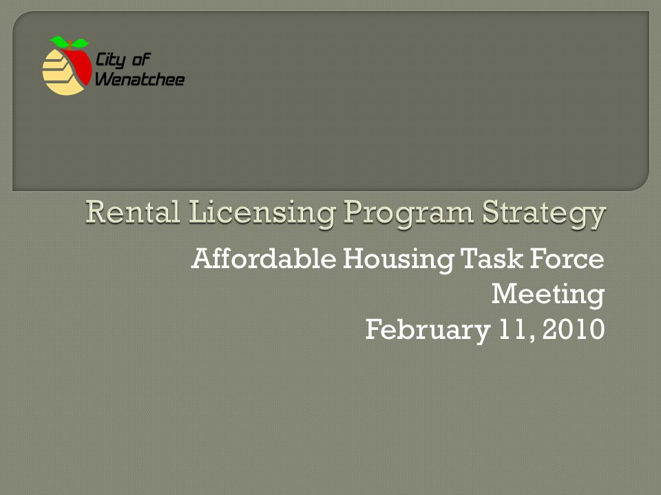  Background on Strategy  Residential Landlord-Tenant Law  How Program Works  Program Costs & Rental Fees  Benefits & Disadvantages  Results in Other Jurisdictions  Alternative Options