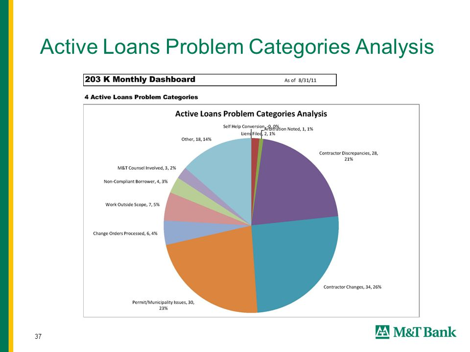 37 Active Loans Problem Categories Analysis