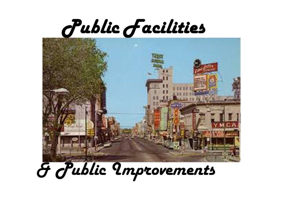 Public Facilities & Public Improvements