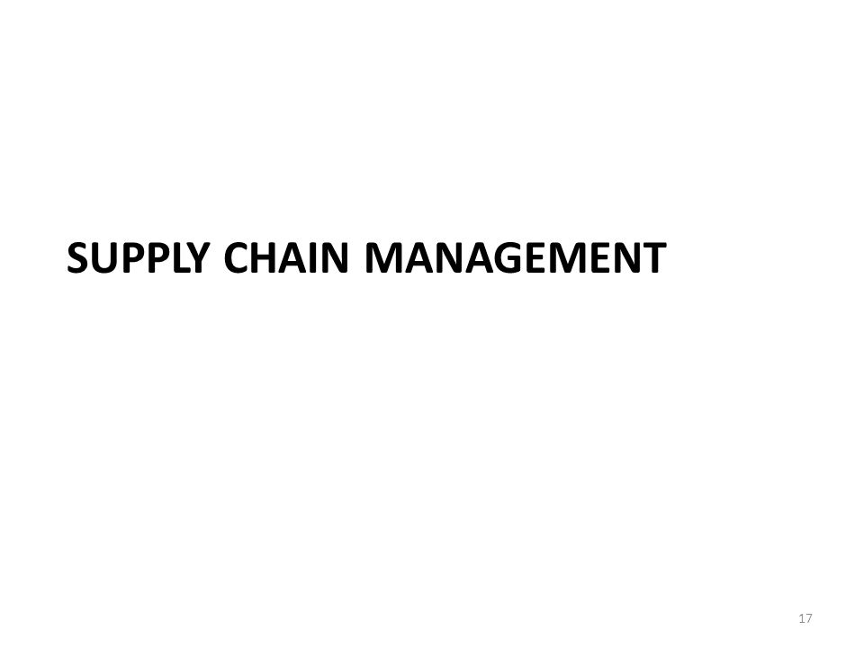 SUPPLY CHAIN MANAGEMENT 17