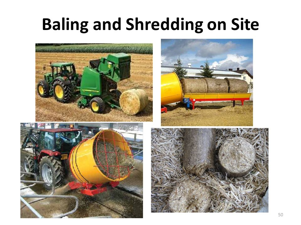 Baling and Shredding on Site 50