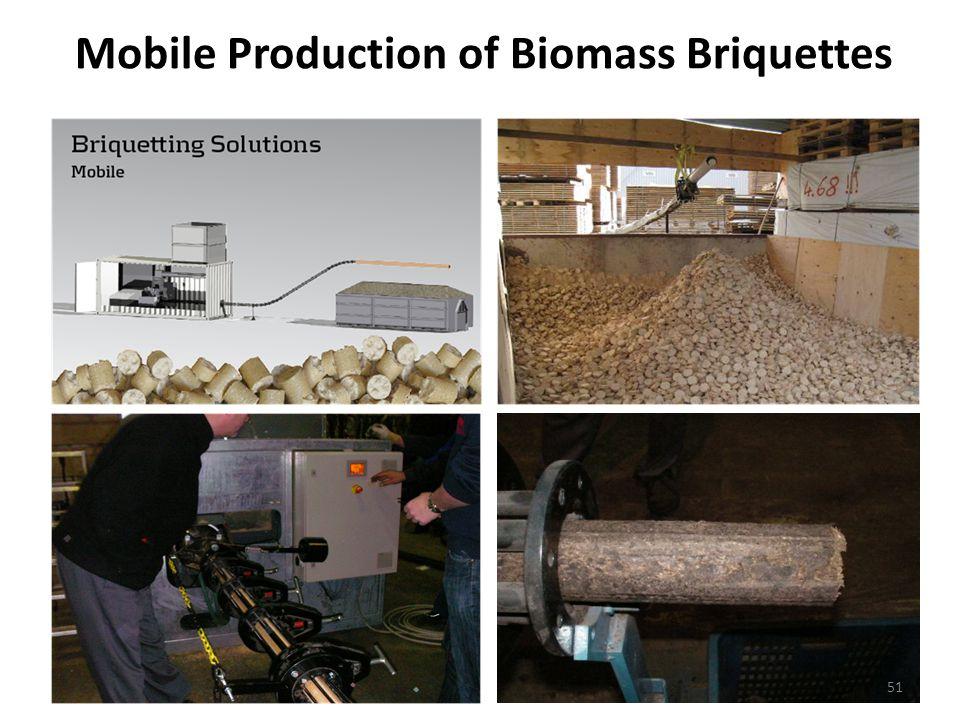 Mobile Production of Biomass Briquettes 51