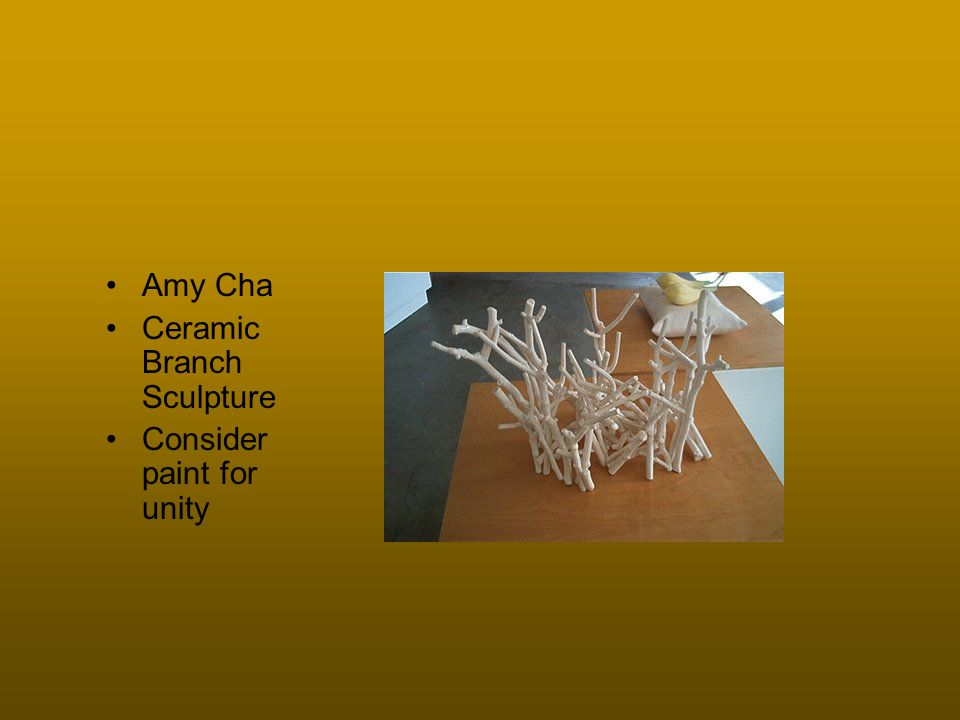 Amy Cha Ceramic Branch Sculpture Consider paint for unity