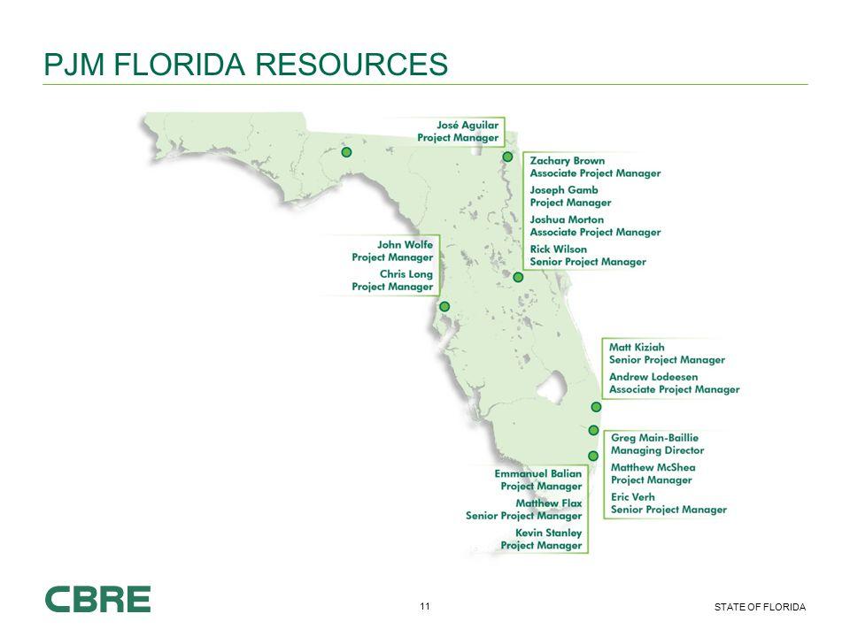 11 STATE OF FLORIDA PJM FLORIDA RESOURCES