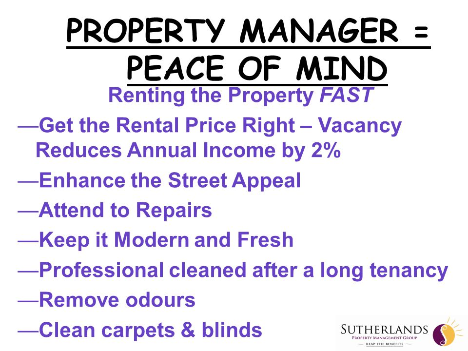Why All Property Managers Are NOT the Same.Like all business Property Managers are not the same.
