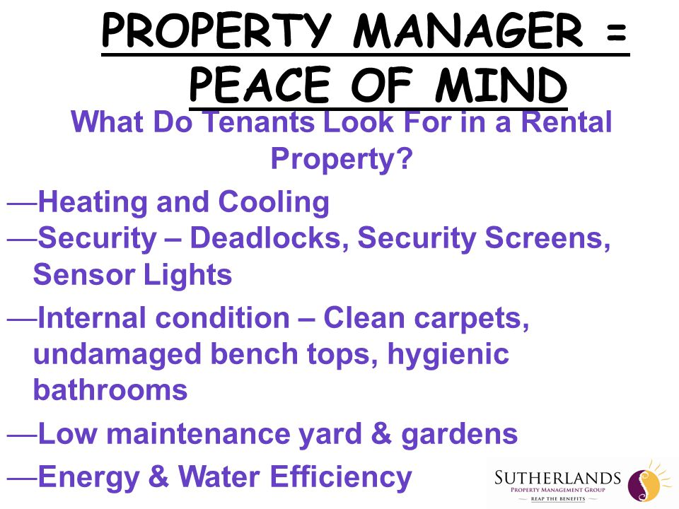 Why is Sutherlands Property Management Different.