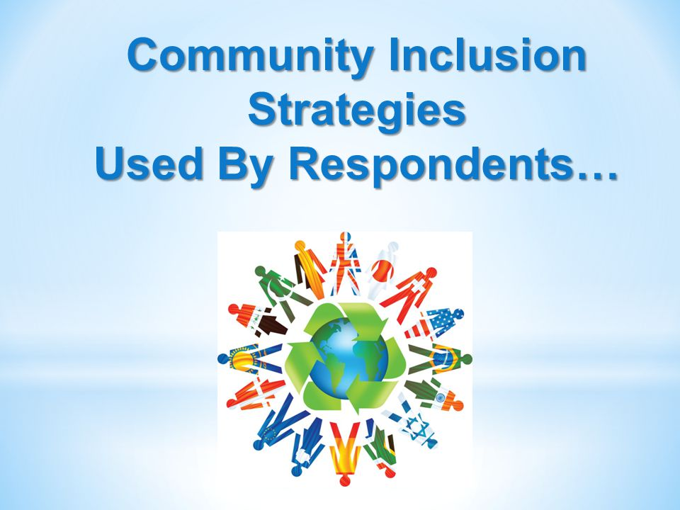 24 Community Inclusion Strategies Used By Respondents…