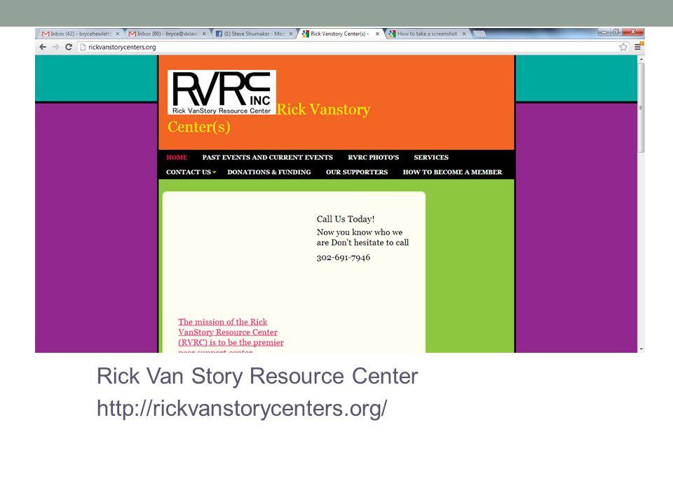 Rick Van Story Resource Center http://rickvanstorycenters.org/
