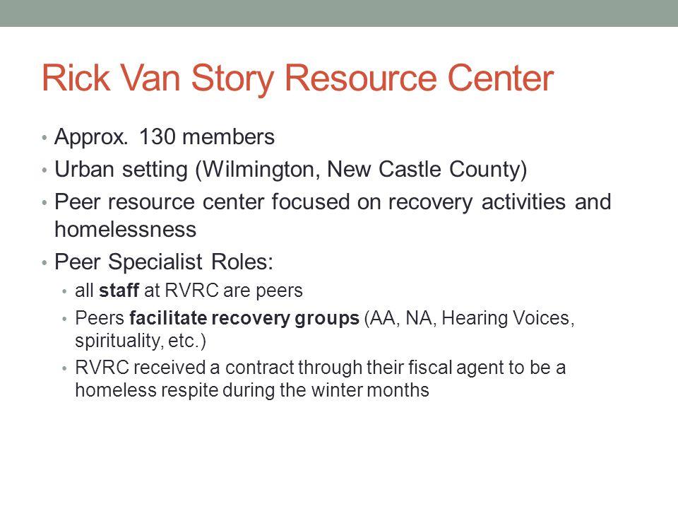 Rick Van Story Resource Center Approx.